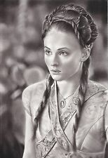 Game of Thrones Sansa Stark ART CHARCOAL DRAWING 8X12""