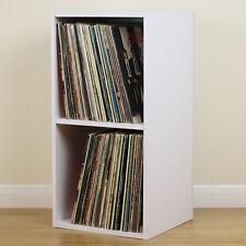 Large White Square LP/Vinyl Music Record Storage Cube/Cabinet Home Display Unit