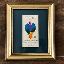 In celebration of your new beginnings framed rainbow bird strength courage love