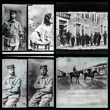 GUERRE WW 1 1915 STEREOSCOPIQUE 11 PLAQUES VERRE PHOTOS VUES NEG 13x18 9x12
