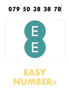 EE Network Trio Sim Card Easy Number Platinum Gold Vip Memorable 079 50 28 38 78