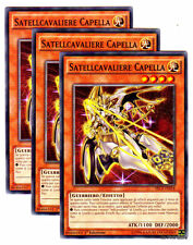 Set 3X SATELLCAVALIERE CAPELLA SECE-IT024 Comune in Italiano YUGIOH
