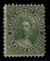 G129791/ CANADA / SG #  39 USED YELLOW-GREEN SHADE – CV 90 $
