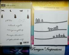 NEW Stampin Up JINGLE ALL THE WAY & SLEIGH RIDE EDGELITS Dies Christmas Village
