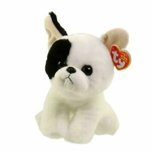 "Marcel Bulldog Ty Beanie Babies Plush stuffed animal figure 8"" small new w/ tags"