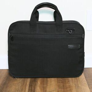 """Briggs & Riley 12"""" x 16"""" Black Brief Case Laptop Shoulder Bag *No Shoulder Strap"""