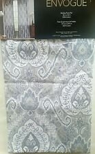 2 ENVOGUE Paisley Medallion Window Curtains Drapes Panels 96 Gray Silver Blue