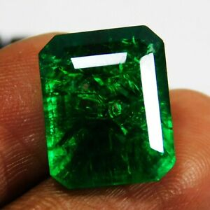 Natural Certified Emerald Cut 8 Ct Colombian Emerald Loose Gemstone