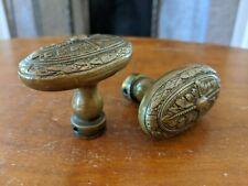 French Vintage Brass Door Knob Pair