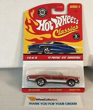 '67 Pontiac GTO Convertible * ORANGE * Hot Wheels CLASSICS * D4