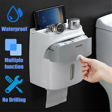 Waterproof Wall Mounted Toilet Paper Roll Holder Drawer Bathroom Tissue Box Xmas