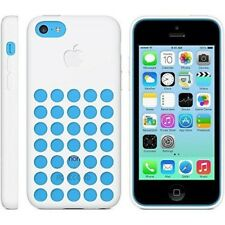 Apple Drilled Holes Silicone iPhone 5c Case White Soft Cover Skin Form Fitting