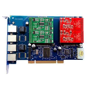 TDM410P asterisk Card FXS FXO Card TDM400 TDM410 PCI Board Freepbx dahdi tdm400p