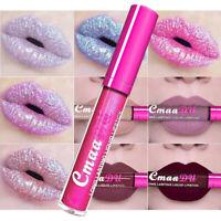 KF_ Long Lasting Metallic Liquid Lipstick Glitter Waterproof Matte Lip Gloss M
