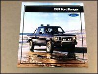 1987 Ford Ranger Truck 20-page Original Sales Brochure Catalog - STX
