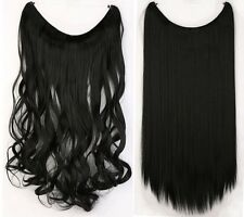 US Headband Secret Wire In Hair Extensions Invisible Curly Straight Wedding Hair
