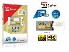 TivuSat TeleSystem HD 4K CAM and Pre -Activated Tivusat Card – Brand New