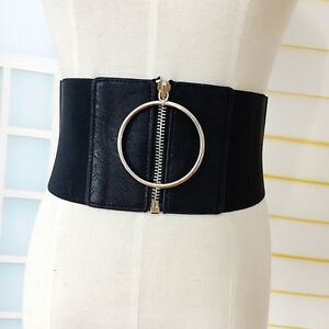 Women/'s Wide Belt Waistband Corset PU Leather Gothic Lolita Dress Decor