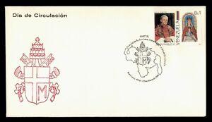 DR WHO 1985 VENEZUELA FDC POPE PAUL II  g09076