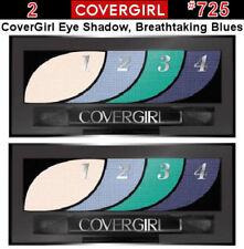 2 Cover Girl Eye Shadow Quads #725 Breathtaking Blues .06 oz. Each - New