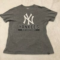 New York Yankees '47 T Shirt Mens Medium Gray