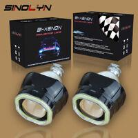 Mini 2.5'' COB LED Angel Eyes Halo DRL HID Car Projector Lens Headlight Bi-xenon