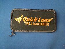 Quick Lane Tire & Auto Center Company Logo Iron On Patch