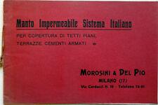 1923 – EDILIZIA – VECCHIO CATALOGO - IMPERMEABILIZZAZIONE TETTI TERRAZZI MILANO