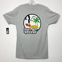 Reyn Spooner NWT Wahine beach Tee Shirt Heather Grey Sz SML $44 Status Oceanic