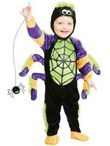Toddler Little Spooky Spider Fancy Dress Costume Halloween Child Kids Boys Girl