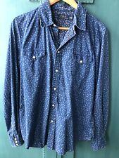 Polo Ralph Lauren Indigo Blue Floral Shirt Size Large Excellent