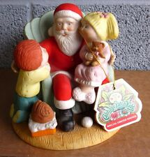 CABBAGE PATCH KIDS porcelain Christmas statue w/ box 1984 limited-edition Santa