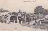 CPA 51 CONDE sur MARNE (Marne) L'Ecluse  beau plan de péniche a bois