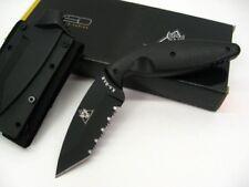 Ka-Bar Black Large TDI Law Enforcement Serrated Tanto Knife + Sheath 1485