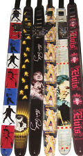 "ELVIS KING 2.5"" High Resolution Vinyl Leather Backed Guitar Strap"