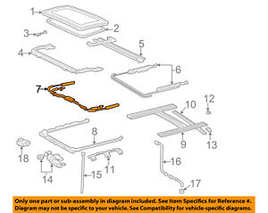TOYOTA OEM 01-07 Sequoia Sunroof-Cable Guide Case 632210C010