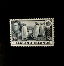 FALKLAND ISLANDS SG160 1938 2/6 SLATE MTD MINT
