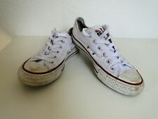 Converse All Star Chucks Sneaker Turnschuhe Slim Low Stoff Weiß Gr. 4,5 / 37