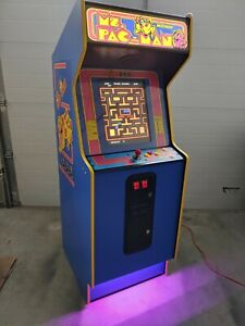 Full Size Commercial Refurbished Ms. PacMan Themed Multi Game Video Arcade