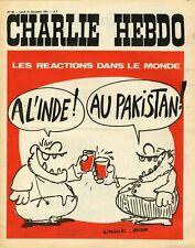 """CHARLIE HEBDO N°56 du 13/12/1971"" WOLINSKI - REISER : INDE / PAKISTAN"