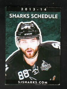 San Jose Sharks--Brent Burns--2013-14 Pocket Schedule/Poster--Comerica Bank