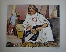 Pablo O'Higgins Original Signed Lithograph - The Market