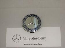 Genuine Mercedes-Benz Blue Emblem Alloy Wheel Hub Cap / Centre Cap NEW