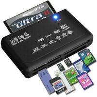 USB 2.0 All in 1 External Memory Card Reader Mini Micro M2 MMC XD CF MS