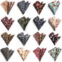 Men Stylish Floral Paisley Cotton Hanky Handkerchief Wedding Pocket Square HZ219