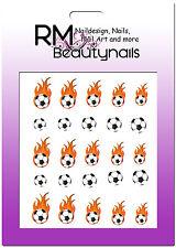 Nagel Sticker Fussball EM WM Ball Flamme Flame Nailwrap BLE1647