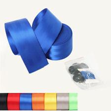 Blau Autogurt KFZ PKW Sicherheitsgurt Set 3-Punkt-Gurt 4.8x360cm + Schnur Knopf