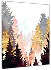 Watercolor Geometry Forest Canvas Wall Modern Art Oil Painting Home Office Decor