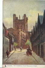 Cheshire Postcard - Chester - The Cathedral from Werburgh Street   ZZ439