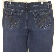 Harley Davidson Jeans Embellished HD Wings Stone Wash Bootcut Low Rise Sz 10 L27
